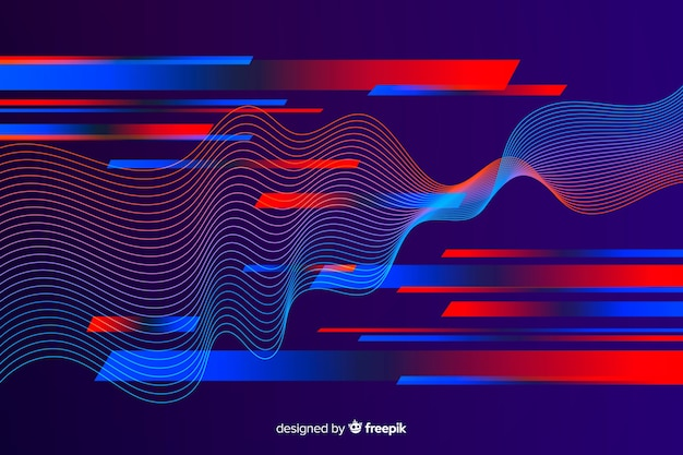 Flat dark abstract sport background