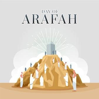 Piatto giorno di arafah illustrazione
