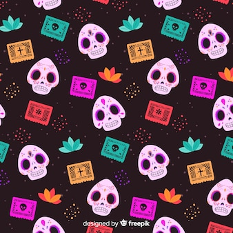 Flat day of the dead pattern