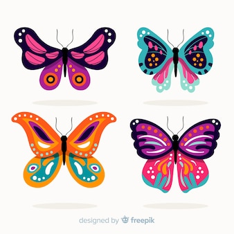 Flat decorated butterfly pack