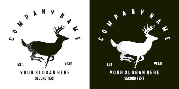 Flat deer logo design