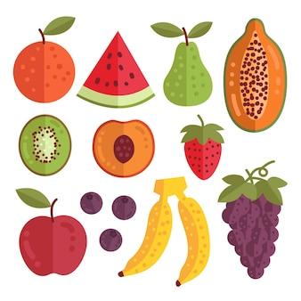 フラットで美味しいフルーツコレクション