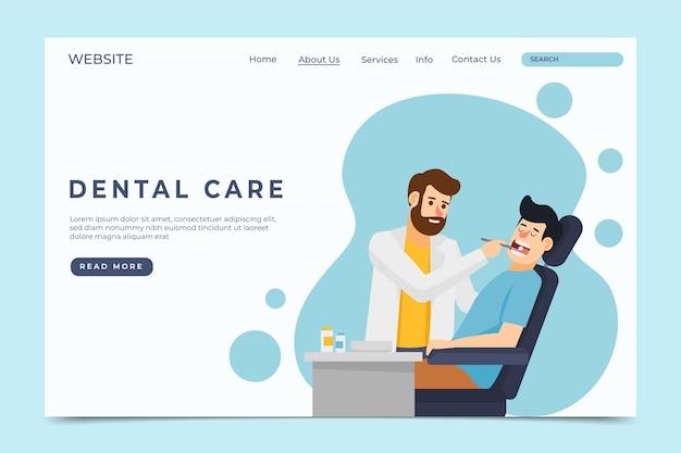 Flat dental care landing page