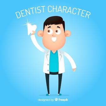 平らな歯科キャラクター