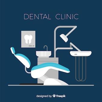 Flat dental clinic background