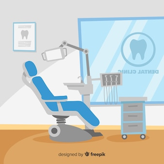 Flat dental clinic background