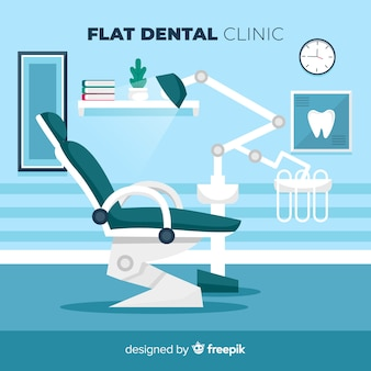 Flat dental clinic chair background