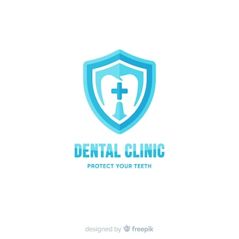 Flat dental clinic logo