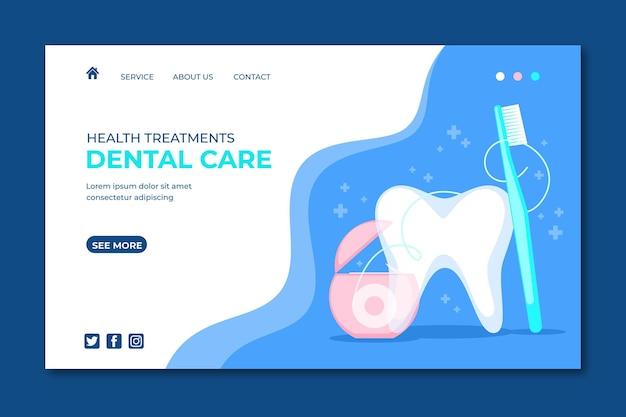 フラット歯科医療のランディングページ