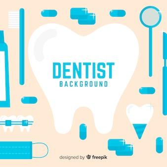 Flat dentist background