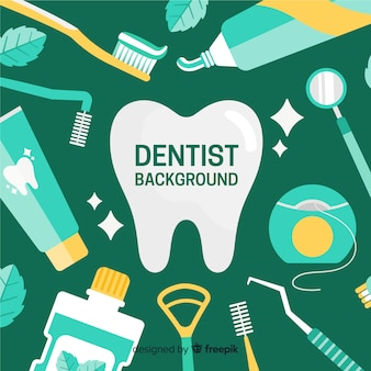 Flat dentist background
