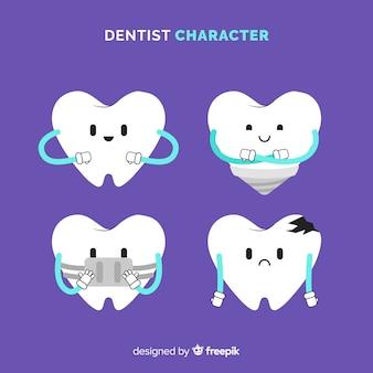 Flat dentist character