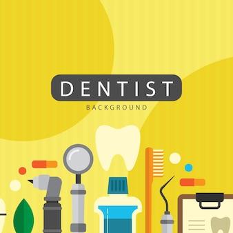 Flat dentist elements background