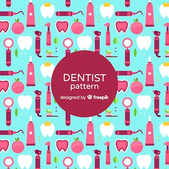 Flat dentist elements pattern