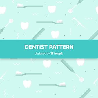 Flat dentist tools pattern