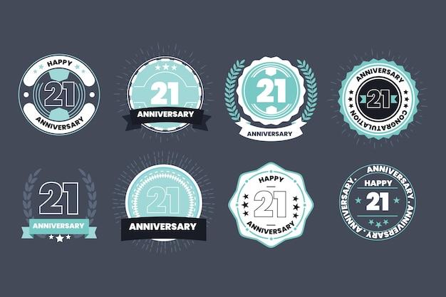 フラットデザイン21周年記念バッジコレクション