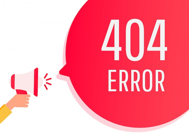 Flat design 404 error on website page