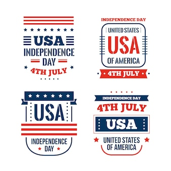 Flat design 4th of july event