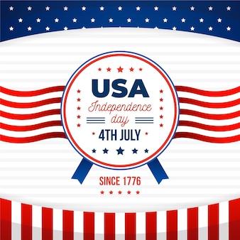 フラットデザイン7月4日のお祝い