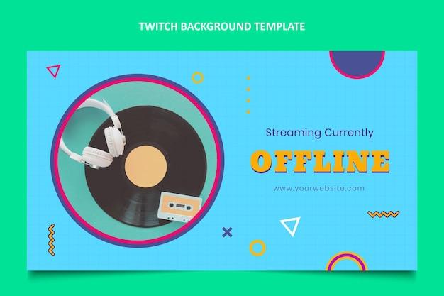 평면 디자인 90 년대 음악 축제 트위치 배경
