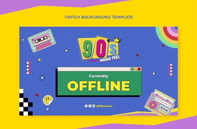 Fondo di contrazione del festival di musica degli anni '90 design piatto