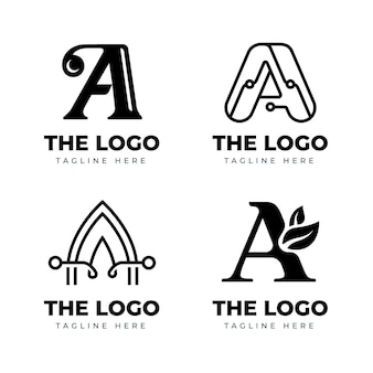 평면 디자인 로고 템플릿 컬렉션
