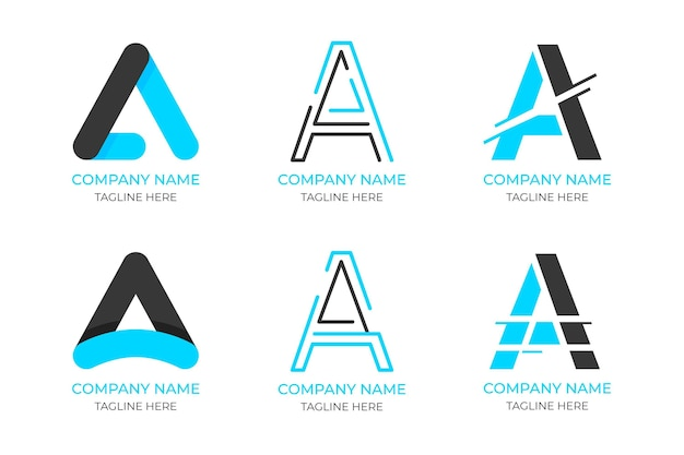 フラットデザインのロゴテンプレートパック