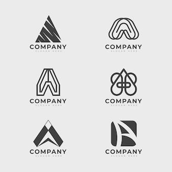 Плоский дизайн набор шаблонов логотипов