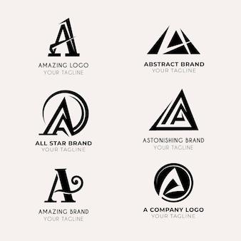 フラットデザインのロゴテンプレートセット