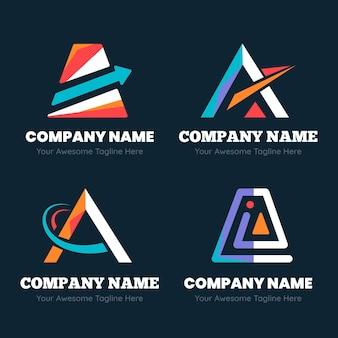 フラットデザインのロゴテンプレート