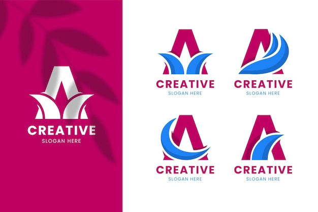 Плоский дизайн шаблоны логотипов