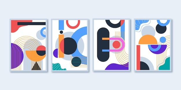 フラットデザインの抽象芸術カバーコレクション