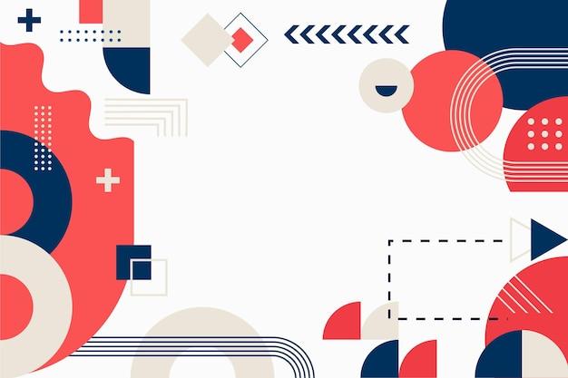 Плоский дизайн абстрактный фон с красочными формами
