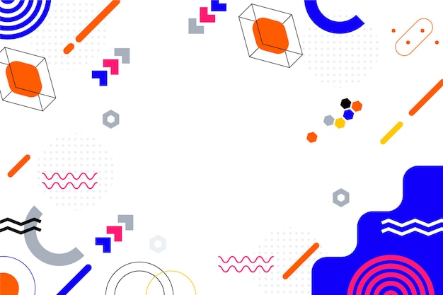 Flat design abstract background with colorful shapes