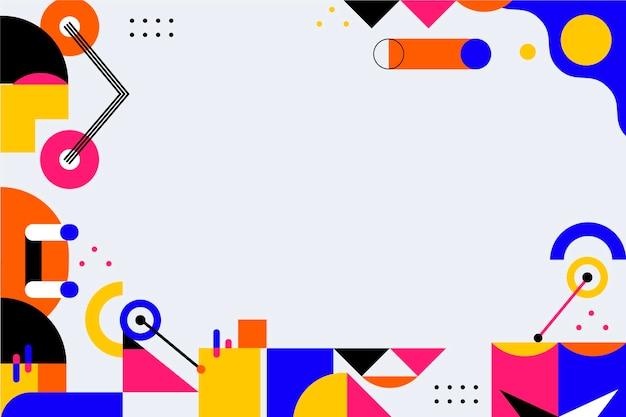 カラフルな形のフラットなデザインの抽象的な背景
