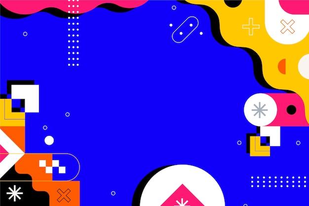 Sfondo astratto design piatto con forme colorate