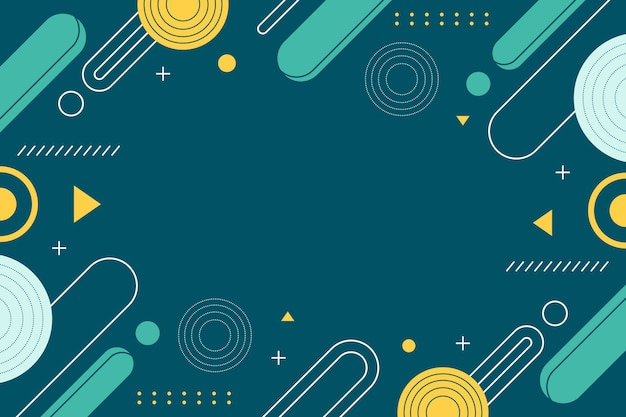 Flat design of abstract background