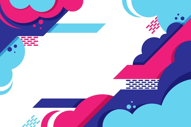 Flat design abstract background