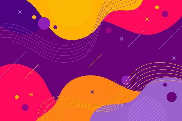 フラットなデザインの抽象的な動的背景