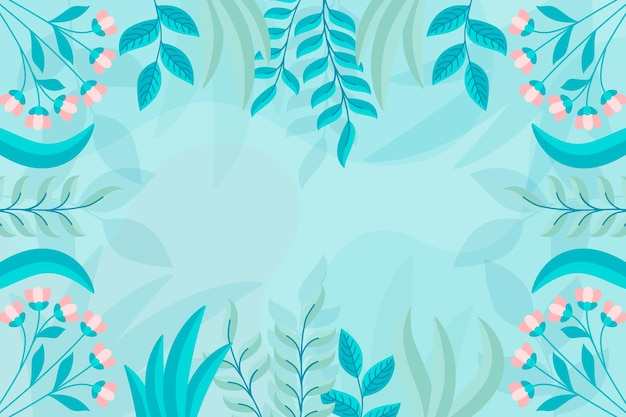 Flat design abstract floral background concept