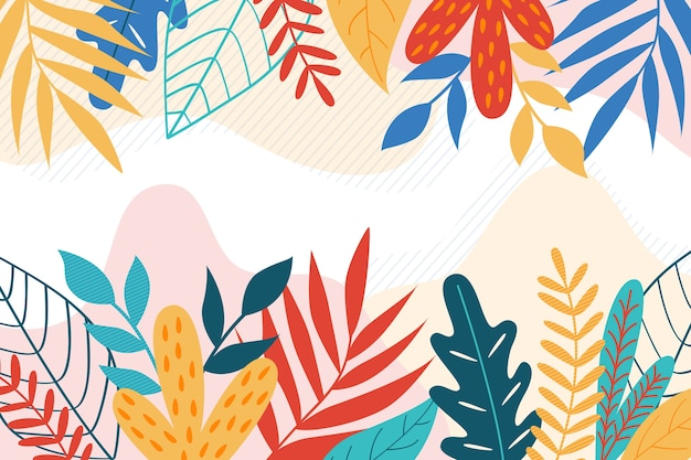 Flat design abstract floral background theme