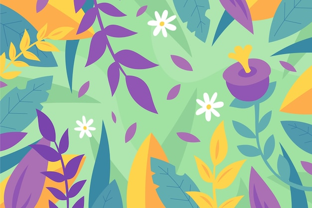 Design piatto astratto sfondo floreale