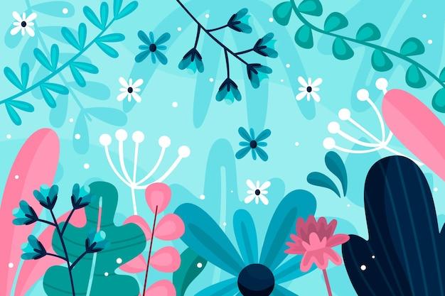 フラットなデザインの抽象的な花の背景
