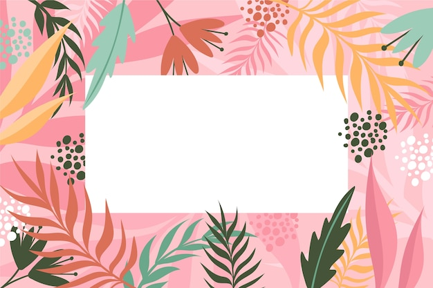 Flat design abstract floral background