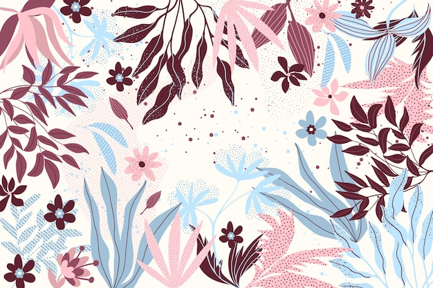 Flat design abstract floral concept for background