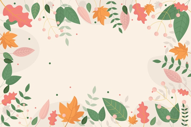 Flat design abstract floral wallpaper theme