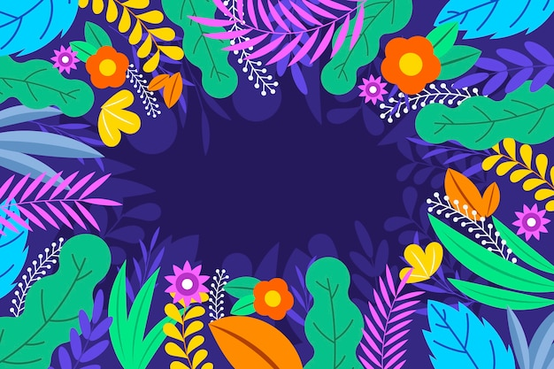 Плоский дизайн абстрактные цветочные обои
