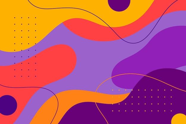 フラットなデザインの抽象的な流体形状の背景
