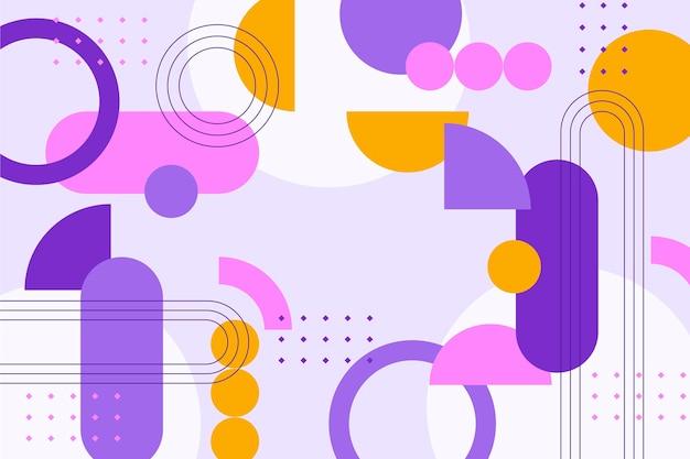 フラットなデザインの抽象的な幾何学的な背景
