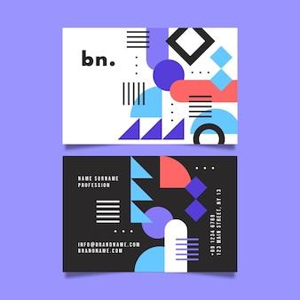 Biglietto da visita geometrico astratto design piatto